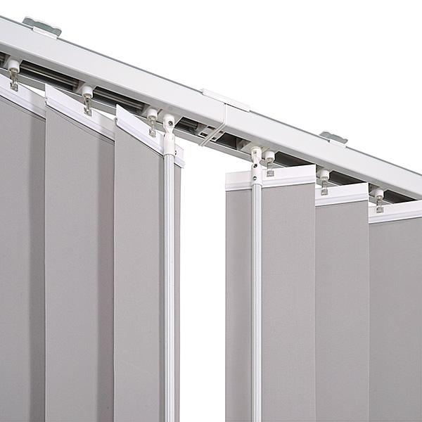 ventanara lamellenvorhang grau komplettset ventanara 89mm vertikaljalousie ebay. Black Bedroom Furniture Sets. Home Design Ideas
