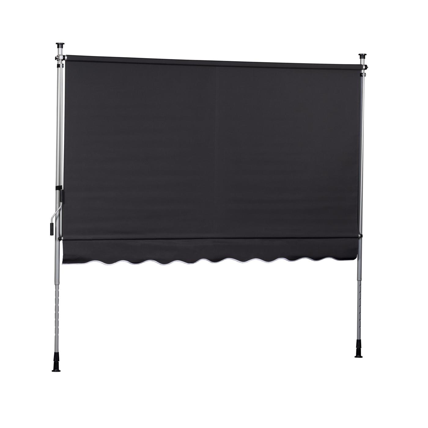 klemmmarkise anthrazit balkonmarkise markise spannmarkise sonnenschutz ebay. Black Bedroom Furniture Sets. Home Design Ideas