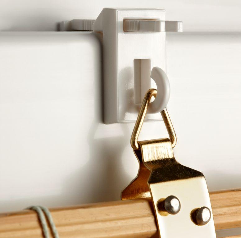 easyfix bambustr ger 2 st ck klemmhalter klemmfix f r bambusrollo raffrollo ebay. Black Bedroom Furniture Sets. Home Design Ideas