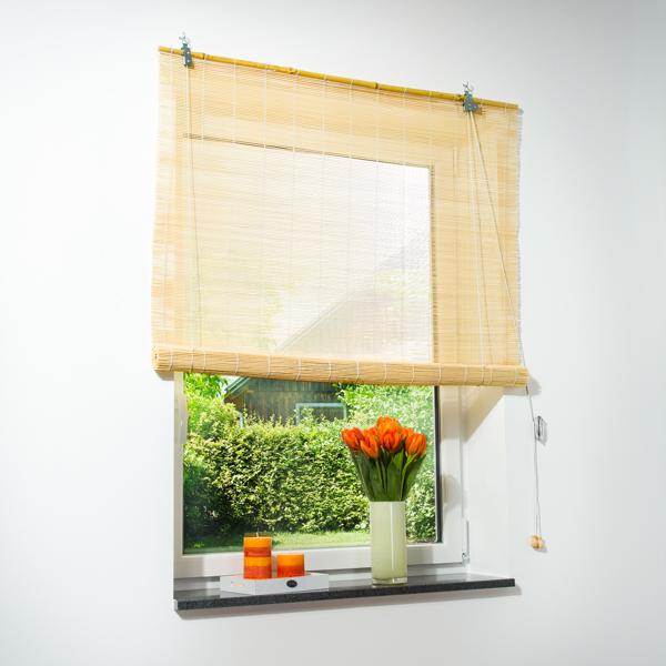 bambus rollo natur jalousie div gr en schon ab 7 ebay. Black Bedroom Furniture Sets. Home Design Ideas