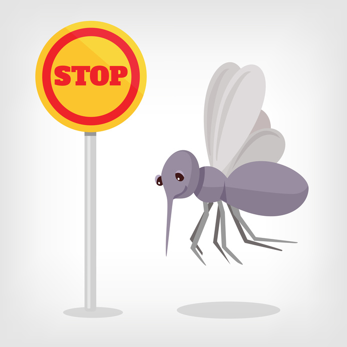 Stop mosquito vector flat illustration