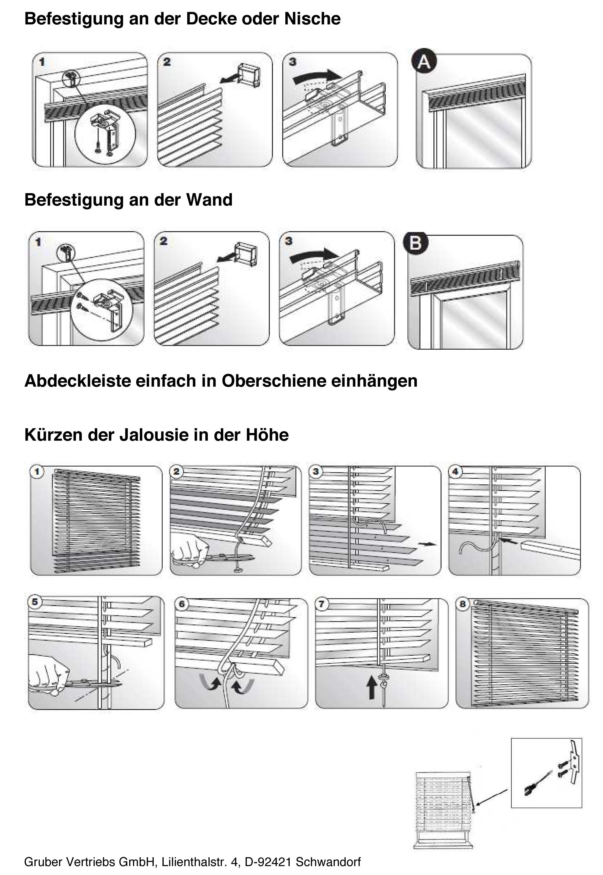 Jalousien Kürzen Anleitung | Polycms