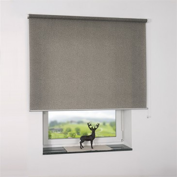 sch ner wohnen rollo leafes grau lichtdurchl ssig. Black Bedroom Furniture Sets. Home Design Ideas