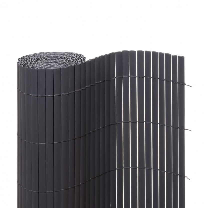 sichtschutzmatte pvc grau zaunverkleidung au en jaromondo shop. Black Bedroom Furniture Sets. Home Design Ideas