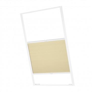 Dachfenster Wabenplissee raumverdunkelnd beige passend für Velux Fenster