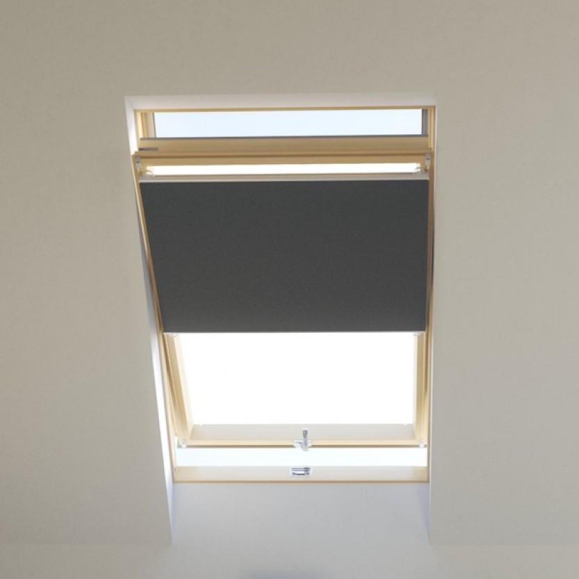 dachfenster wabenplissee raumverdunkelnd grau f r velux fakro roto fenster plissee. Black Bedroom Furniture Sets. Home Design Ideas