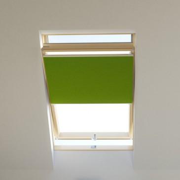 Dachfenster Wabenplissee raumverdunkelnd grün, für VELUX, FAKRO, ROTO