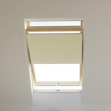 Dachfenster Wabenplissee raumverdunkelnd creme, für VELUX, FAKRO, ROTO