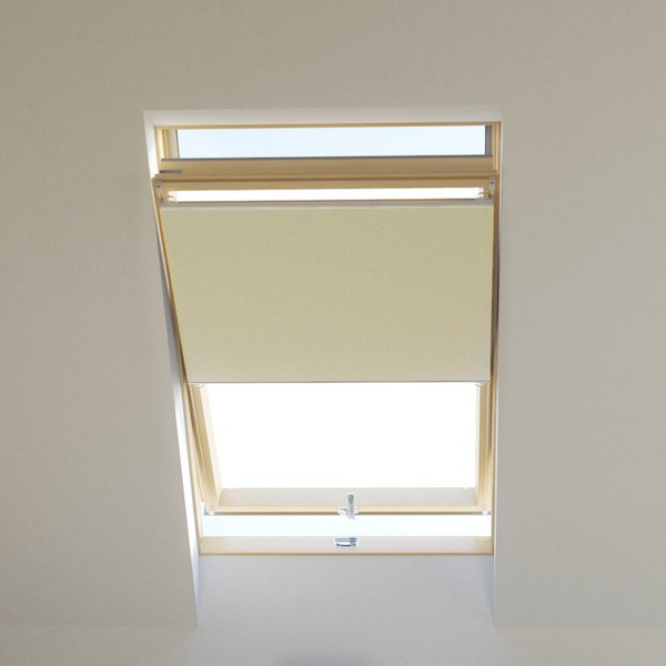 dachfenster wabenplissee raumverdunkelnd creme f r velux fakro roto fenster plissee. Black Bedroom Furniture Sets. Home Design Ideas