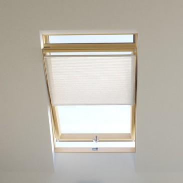 Dachfenster Wabenplissee tageslicht weiss, für VELUX, FAKRO, ROTO