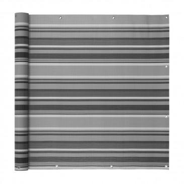 Ventanara Balkonverkleidung grau gestreift