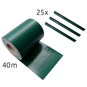 Sichtschutz-Streifen 40 m, grün