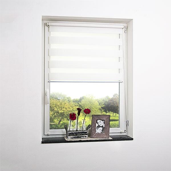 Fenster doppelrollo verspannt weiss viele gr en for Fenster shop