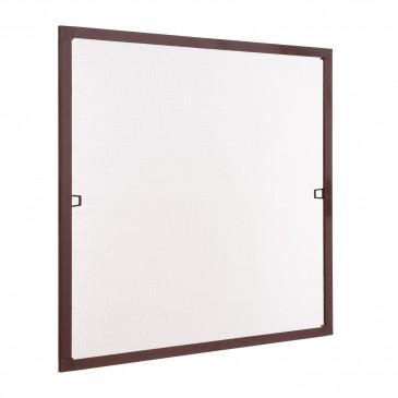 Insektenschutz Fenster Spannrahmen braun (RAL 8017)