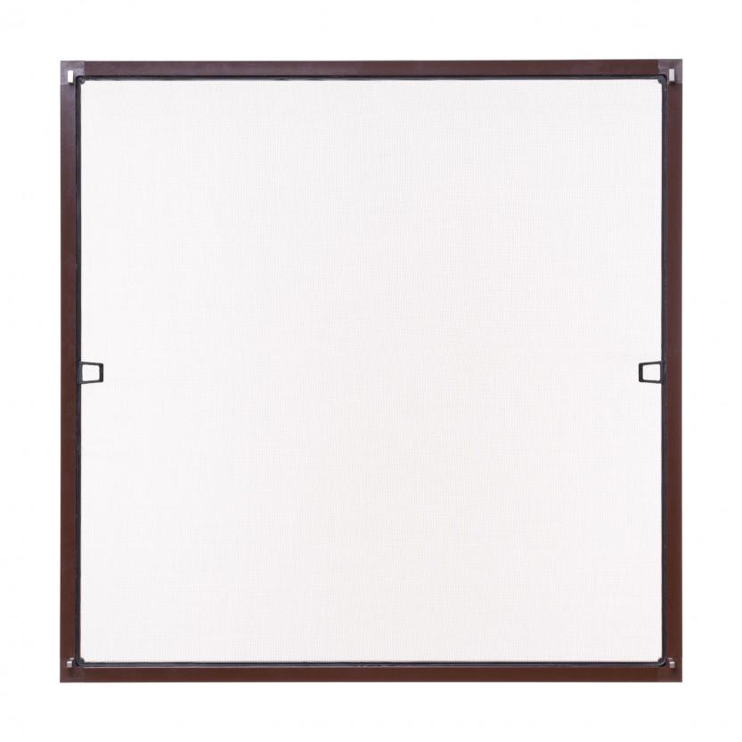 Insektenschutz fenster spannrahmen braun ral 8017 for Fenster 75x75