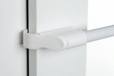 Klemmstange Gardinenstange ausziehbar Weiß 50 - 75 cm