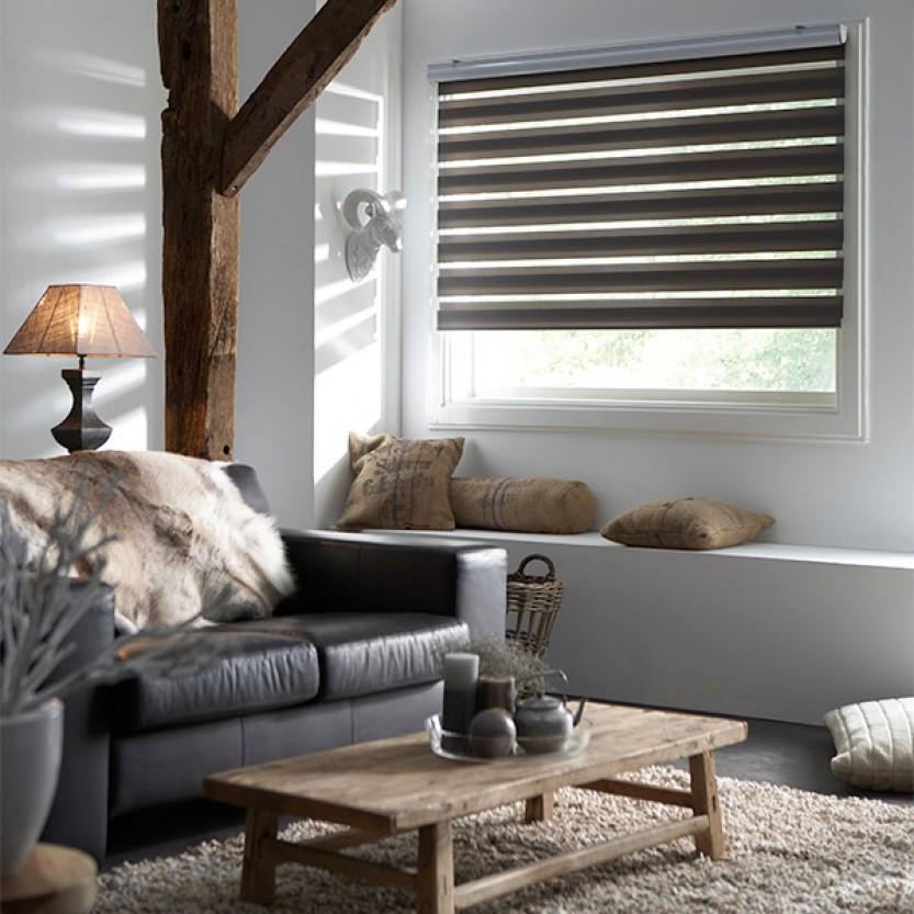decosol doppelrollo tageslicht anthrazit doppelrollo rollos jaromondo shop. Black Bedroom Furniture Sets. Home Design Ideas