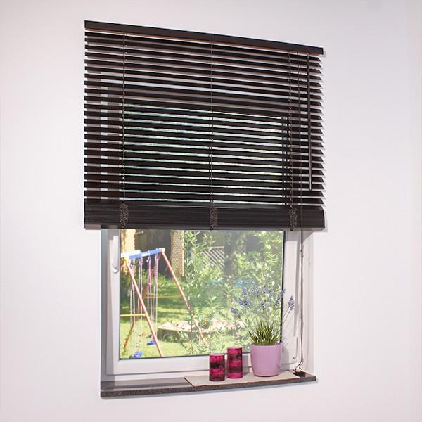 holz jalousie schwarzbraun jaromondo shop. Black Bedroom Furniture Sets. Home Design Ideas