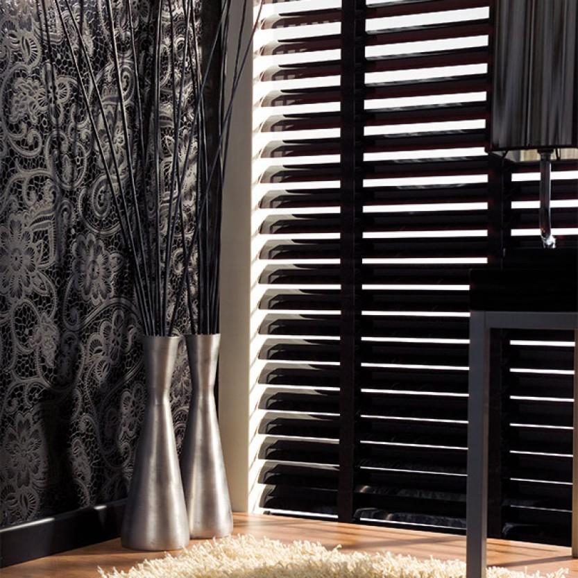 sch ner wohnen alujalousie 50mm schwarz jaromondo shop. Black Bedroom Furniture Sets. Home Design Ideas