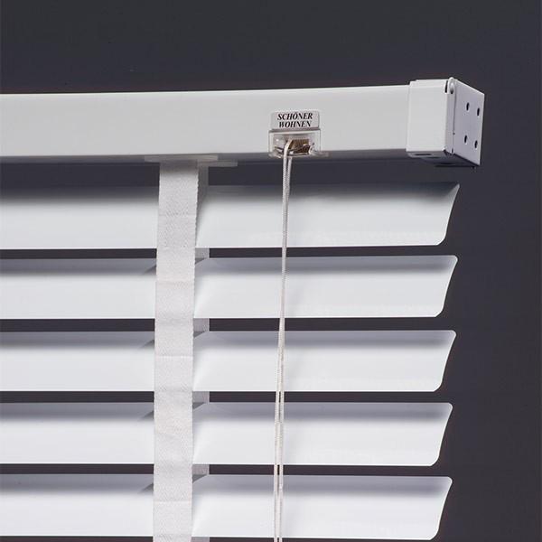 sch ner wohnen alujalousie 50mm weiss aluminium jalousie jalousien jaromondo shop. Black Bedroom Furniture Sets. Home Design Ideas